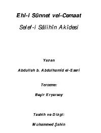 Veciz: Selef-i Salih Akidesi